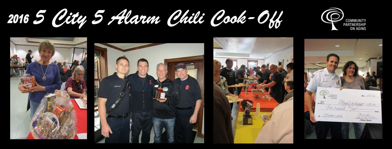 2016 5-City 5-Alarm Chili Cook-Off! Benefited The CPA Safe-At-Home Program