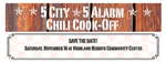 2019 5-City 5-Alarm Chili Cook-Off!