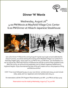 Dinner 'n' Movie Meet Up! August 26th 2015