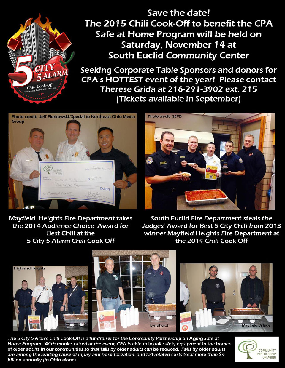 Community Partnership on Aging 5-City 5-Alarm Chili Cook-Off