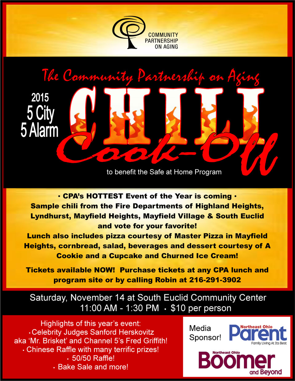 Chili Cook-Off Logo Community Partnership on Aging