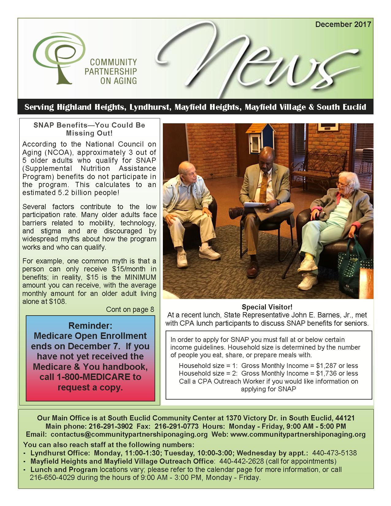 December 2017 CPA Newsletter