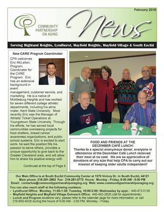 February 2018 CPA Newsletter